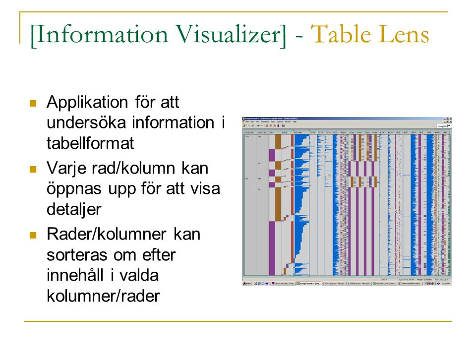 [Information Visualizer] - Table Lens